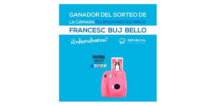 Ganador del sorteo de la cámara Fujifilm Intax Mini 9