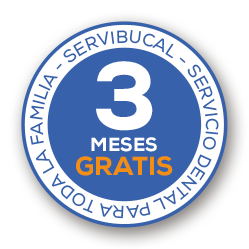 Sello 3 meses gratis de servibucal